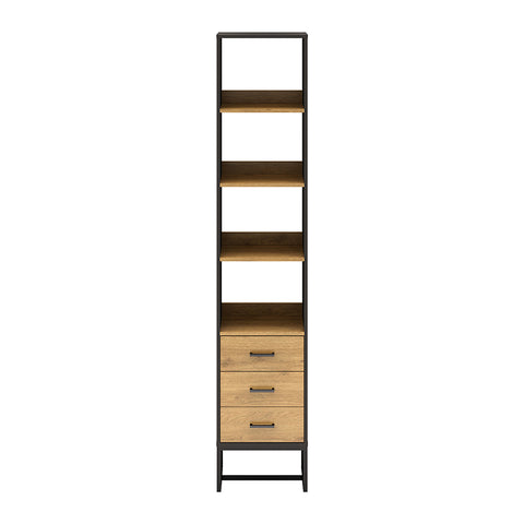 AMSTER Bookshelf Display Unit 40cm - Natural/Black