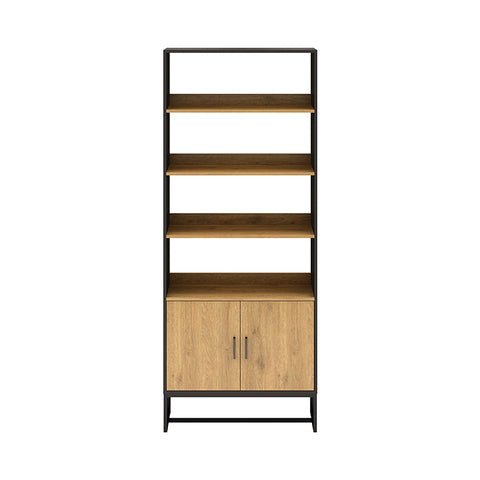 AMSTER Bookshelf Display Unit 80cm - Natural/Black