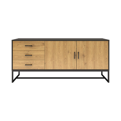 AMSTER Sideboard 160cm - Natural & Black