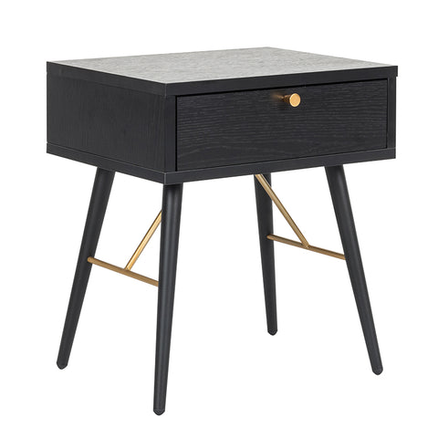 LUXE Bedside Table 45cm  - Black