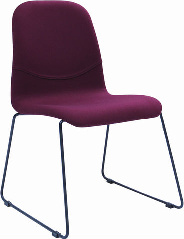 Ava Dining Chair - Ruby/Metal Leg