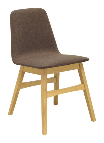 Avice Dining Chair in Chestnut and Natural