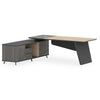 ASHTON Executive Desk Left Return 2.0M - Acacia Walnut + Grey