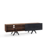 Brooks TV Entertainment Unit - 1.8M Walnut+Black