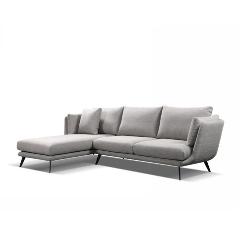 RANNI 3 Seater Sofa With Left Chaise - Light Grey