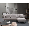 RANNI 3 Seater Sofa With Right Chaise - Light Grey