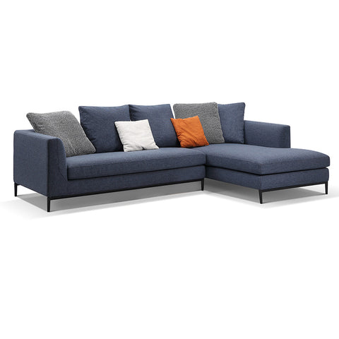 Leland 3 Seater Sofa with Right Chaise - Blue