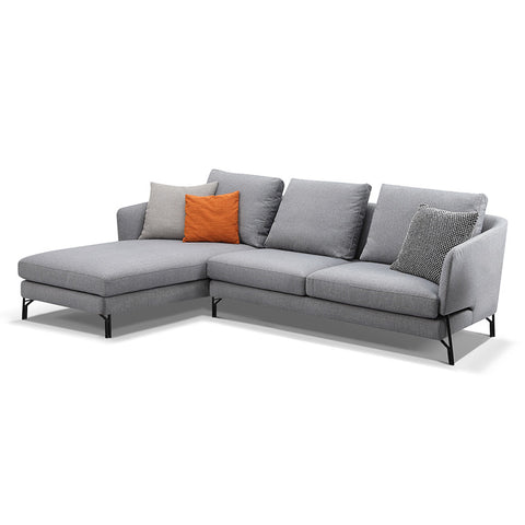Dakota 3 Seater Sofa With Left Chaise - Light Grey