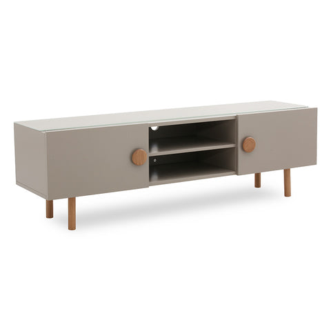 COLBY 160cm Taupe Grey Entertainment Unit