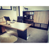 DAXTON Executive Desk with Right Return 2.4M - Mahogany Black