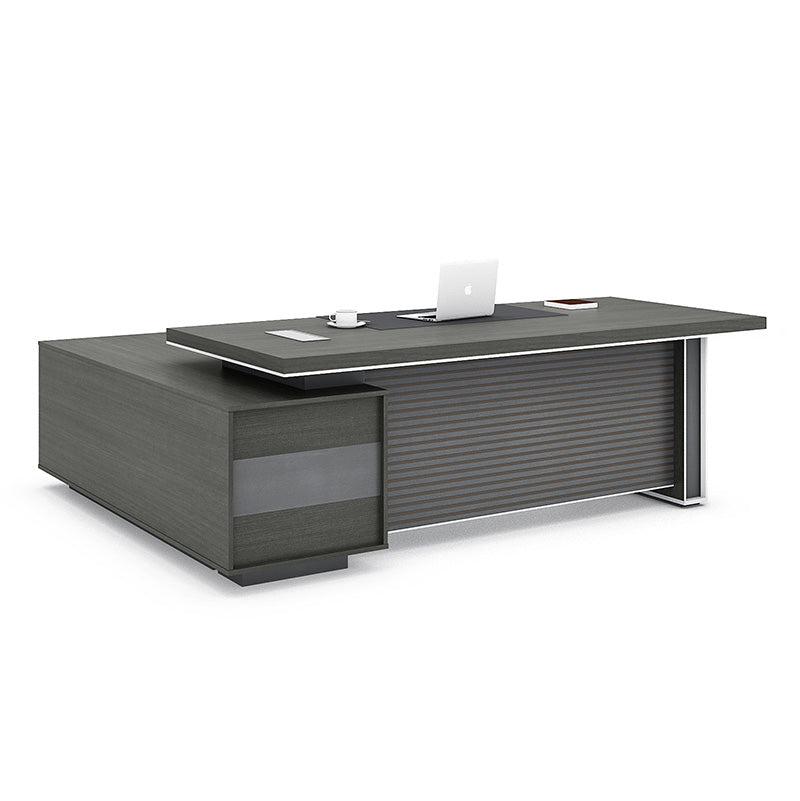 MATEES Executive Desk Reversible  2.4M - Grey/Brown