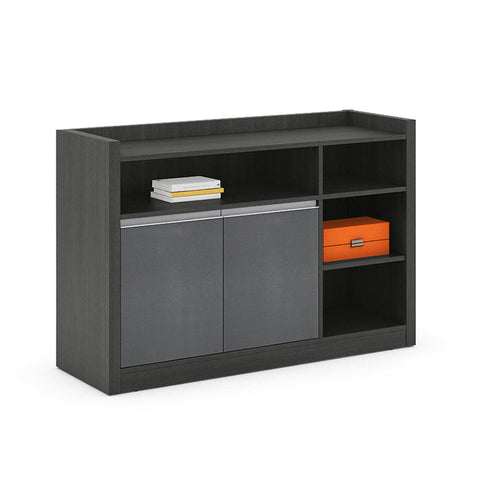 MATEES Credenza Cabinet 1.2M - Grey/Brown