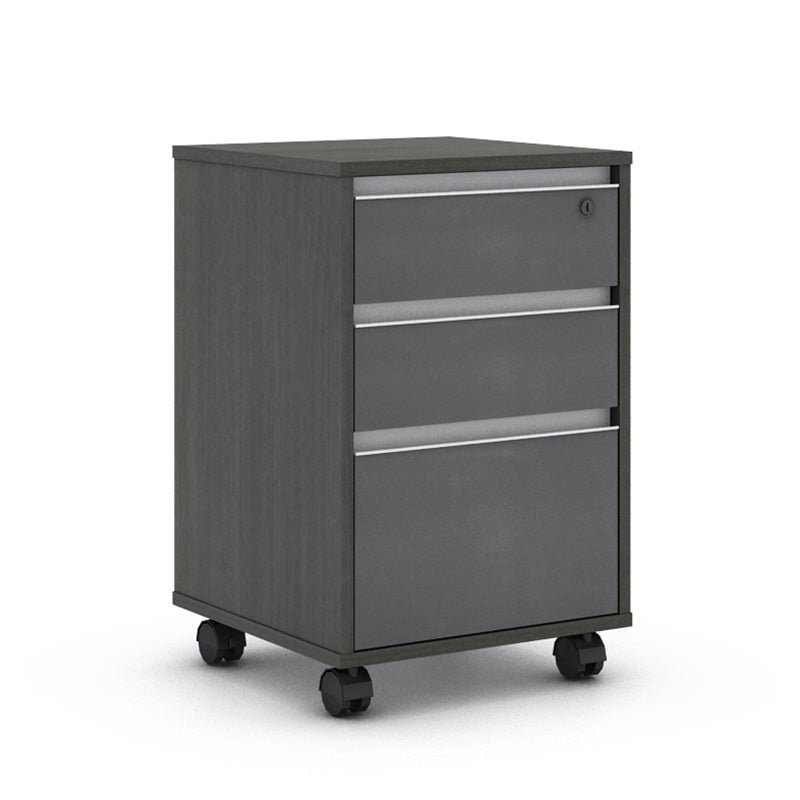 MATEES Mobile Cabinet 40cm - Grey/Brown