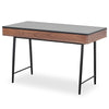 TOZZI 120cm Study Desk - Walnut & Black