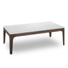 Lex Coffee Table - 120cm - White + Walnut