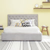 Dustin Queen Bed - Dolphin Grey