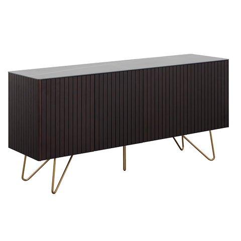 ELORA Sideboard 160cm Ceramic - Smoke Brown Ash