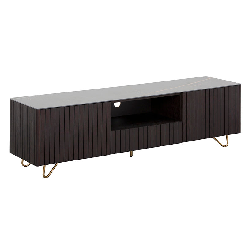 ELORA Entertainment TV Unit 160cm Ceramic - Smoke Brown Ash