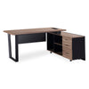 ADRIANO Executive Desk with Right Return 1.8M - Light Brown