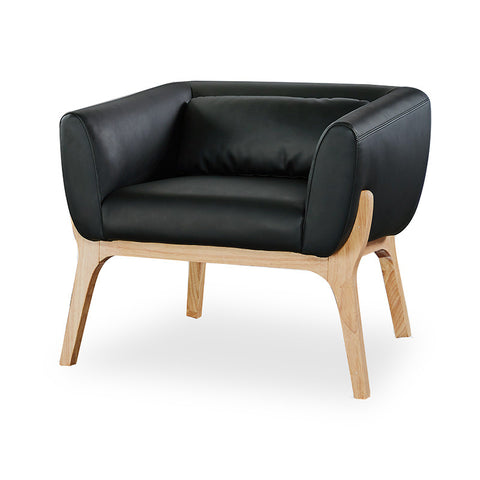Osric Office Lounge Chair - Ash + Black