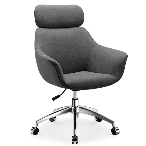 Sable Office Chair with Adjustable Headrest - Grey