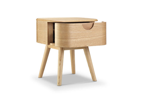 AKINO Bedside Table 45.5cm - Natural Ash Veneer
