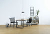 Ulmer Dining Table - 180cm - Black + White Grey