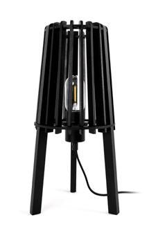 Fidel Timber Table Lamp - 40cm - Black