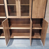 REGGIE Display Unit 160cm - Mahogany Colour