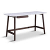 Katon Desk Console - 140cm -  Matt White + Black Oak