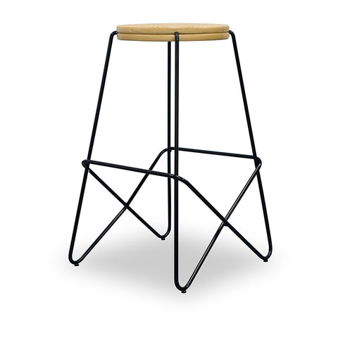 LARK Wooden Topped  Counter Stool