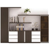 Xander Display Cabinet - 280 x 208cm - Black + White