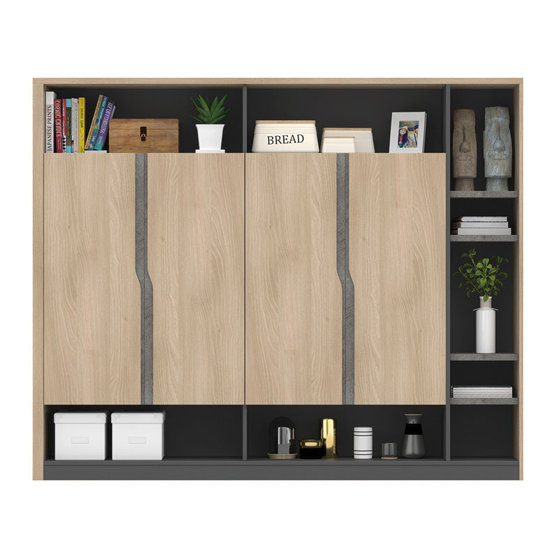 BAXTER Display Cabinet 1.98M - Acacia & Carbon Grey