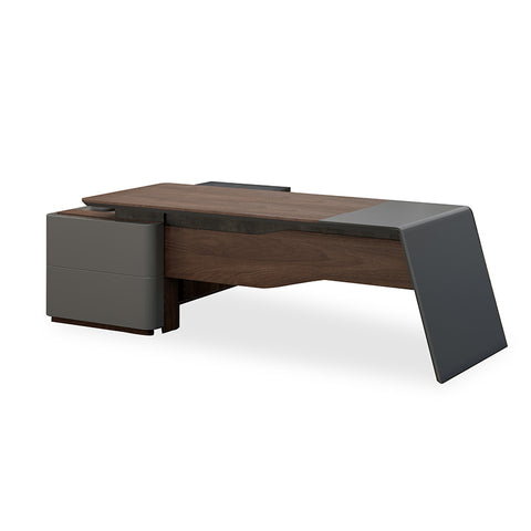 JAGGER Executive Desk Right Return 2.2M - Norica Walnut + Grey