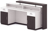 Jett Reception Desk + Cabinet - 180cm - Black + White