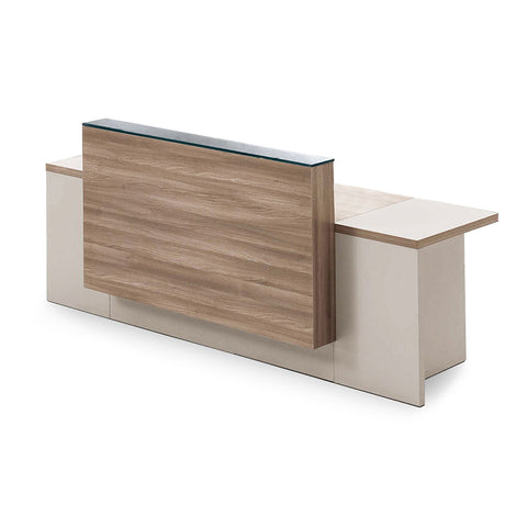 CONELLI Reception Desk 240cm - Light Walnut