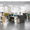LENNON 4 People Back to Back Workstation - Kaldi Grey Blue