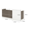 Amias Reception Desk - 180cm - Brown Grey