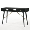 RANIA 120cm Black Ash Study Desk - Console Table
