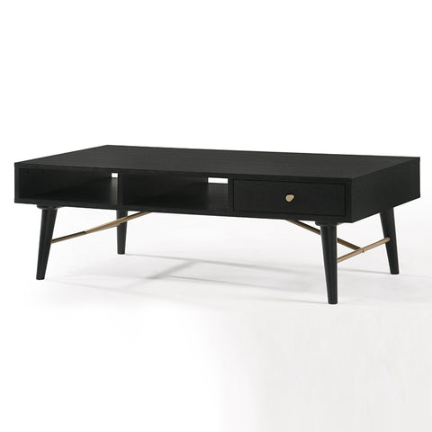 RANIA 120cm Black Coffee Table