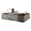 PHOENIX Executive Desk with Left Return 2.8M - Mahogany Black