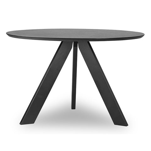 Ace Round Dining Table - 120cm - Black