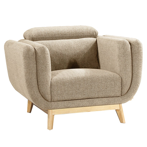Noveau Lounge Chair - Almond
