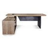 HAMLIN Executive Desk with Left Return 2.2M - Tobacco Wood Colour