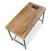 PARKER Study Desk 1.2M - Tobacco/Black
