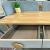 RYLEE Desk - 120cm - Natural + Grey