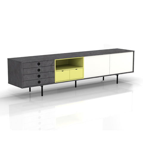 BLAISE Entertainmet TV Unit - 2.0M Black/Yellow/White