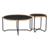TANIX Coffee Table - Round - Black