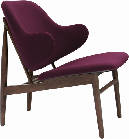 Veronic Lounge Chair in Ruby