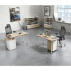 RAVEN SINGLE Workstation 140cm - Natural White